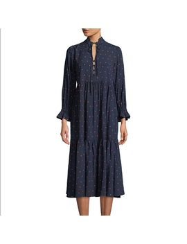 183e6e07baf4 Ag Celeste Navy And Red Polka Dot Xs Dress Preowned Used by Ag Adriano  Goldschmied