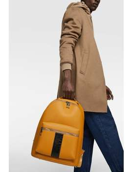 e04a797f045 Shoptagr | Yellow Backpack With Stripe View All Backpacks And ...