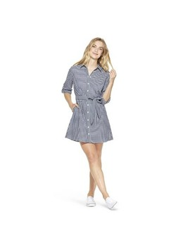 9393722692 NAVY WHITE. WOMEN S GINGHAM LONG SLEEVE SHIRTDRESS - NAVY WHITE - VINEYARD  VINES® FOR TARGET