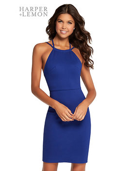 25abe6db8698 Shoptagr   High Neck Short Party Dress With Strappy Open Back by ...