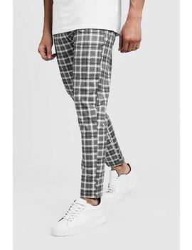 721ffbb2ed91 Shoptagr | Check Smart Jogger Trouser by Boohoo Man
