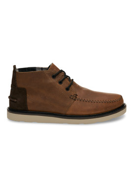 Waterproof Brown Leather Men's Chukka Boots by Toms