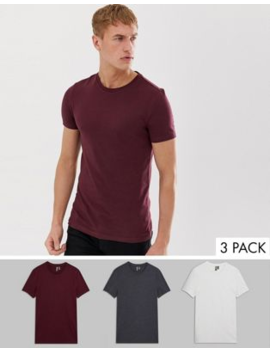 8979c5c2214e Shoptagr | Asos Design Organic Muscle Fit With Stretch T Shirt With ...