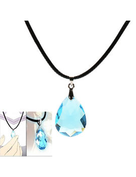 Cosplay Light blue Crystal Necklace for Sword Art Online SAO Kirito Asuna/'s BH