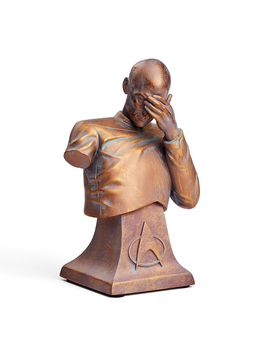 Star Trek Tng Captain Picard Facepalm Bust   Bronze Edition by Think Geek