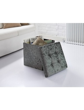 Remarkable Luxe Velvet Storage Seat Charcoal Creativecarmelina Interior Chair Design Creativecarmelinacom