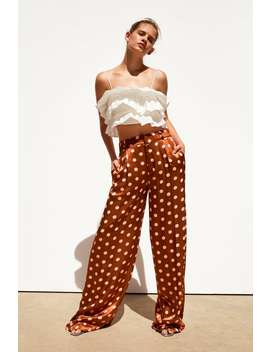 8f932a8b2ab6 ZARA. LIMITED EDITION POLKA DOT WIDE LEG TROUSERSCULOTTES-TROUSERS-TRF-SALE