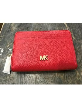 b50d184b1abc3c MICHAEL KORS. MICHAEL KORS MONEY PIECES MOTT ZIP-AROUND COIN PURSE CARD  CASE WALLET ...