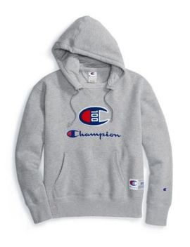 90ba2ddfd Champion Century Collection Men's Hoodie, C100 Chenille Logo by Champion