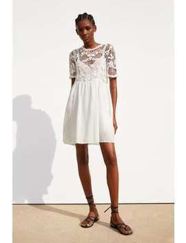 elegir original gran descuento calzado Shoptagr | Vestido Combinado Crochet Cortos Vestidos by Zara