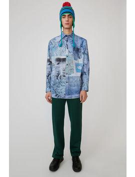 oversized-shirt-multi-colour---blue by acne-studios