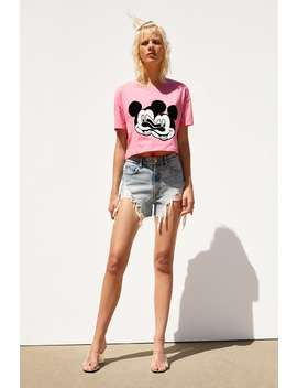 8e4a0221 Mickey Glitch Collection © Disney T Shirtjoin Life Woman Corner Shops by  Zara