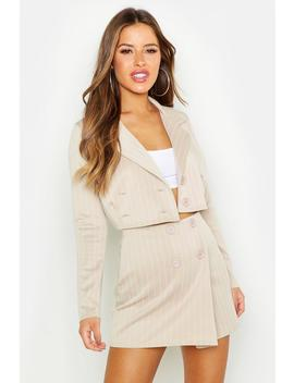 13c51372dc3cb Shoptagr | Petite Pinstripe Mini Skirt by Boohoo