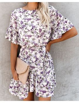 54dcbcc6aff Lilacs Of Love Floral Ruffle Dress by Vici