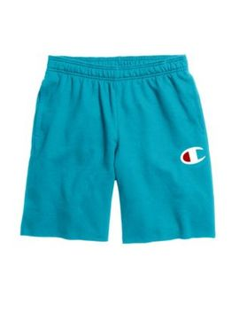 champion-mens-powerblend-fleece-shorts,-c-logo by champion