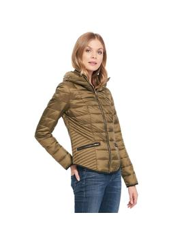 Quilted Funnel Collar Puffer Jacket by Wilsons Leather