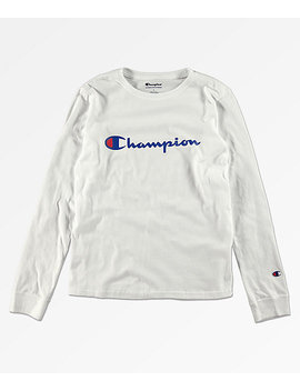 0ac5843735 champion-boys-heritage-white-long-sleeve-t-shirt by