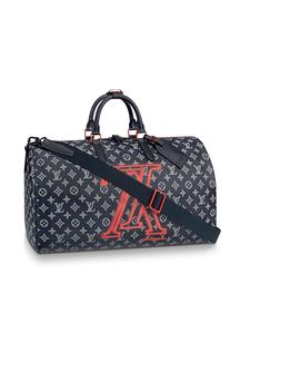 c1c21645263c Louis Vuitton 50 Keepall Bandouliere Monogram Upside Down Ink Navy by Stock  X