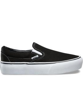 Classic Slip On Platform Black White by Vans