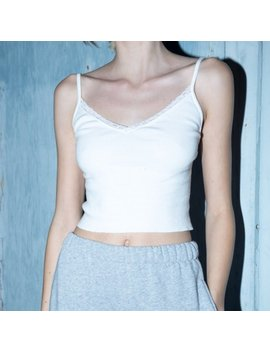 2501cb8421d Brandy Melville White Dainty Lace Nicolette Tank Worn Once And So  Adorable!Tags: Bow