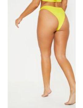 62053f17c20 Shoptagr | Yellow Mix & Match V Front Brazilian Thong Bikini Bottom ...