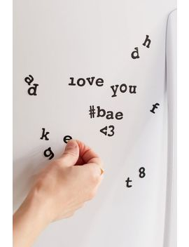 Shoptagr   Typewriter Letter Magnet Set by Urban Outfitters