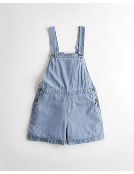 Chambray Short Overalls by Hollister