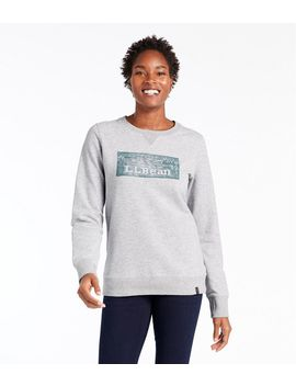 Women's Cozy Crewneck Sweatshirt, Logo by L.L.Bean