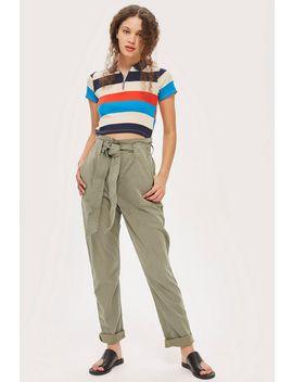 Pantalon Style Militaire Avec Boutons Pression Grande by Topshop