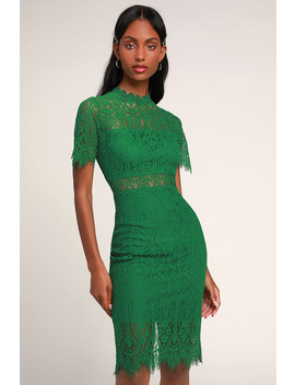 d9317637dcdd Shoptagr | Remarkable Green Lace Dress by Lulus