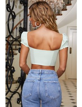 53d19e251eb 20369096 2; 20369096 2; 20369096 3; 20369096 3. frill-chaser-puff-sleeve- crop-top-in-mint by
