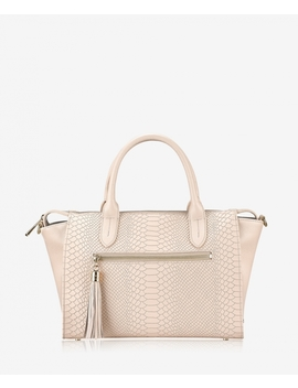 Grace Satchel by Almond Embossed Python