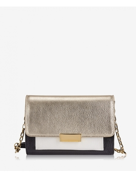 Kate Crossbody by White Gold Metallic Goatskin