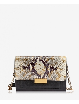 Kate Crossbody by Gold Wash Embossed Python