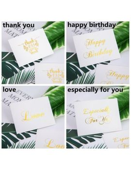 Shoptagr 50 Pcs Greeting Cards New Gold Embossed Thank You