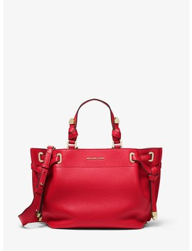 Greta Medium Pebbled Leather Satchel by Michael Michael Kors
