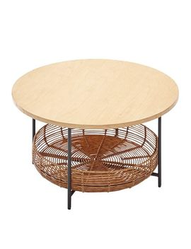 Astonishing Shoptagr Varley Natural Round Coffee Table With Basket By Pdpeps Interior Chair Design Pdpepsorg