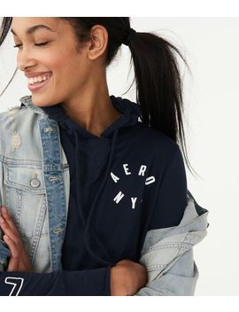 Lightweight Aero Nyc Logo Pullover Hoodie by Aeropostale