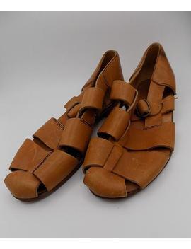 7 Tressé Sandales Talons Bretelles 80 5 ShoptagrVtg Noir Cuir S CedBrox