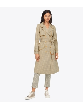Gemini Link Trench Coat by Tory Burch