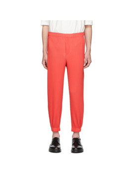 red-tapered-pleat-trousers by homme-plissÉ-issey-miyake
