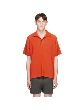 orange-pleat-polo by homme-plissÉ-issey-miyake