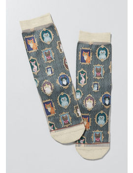 Feline Gallery Cat Socks by Modcloth