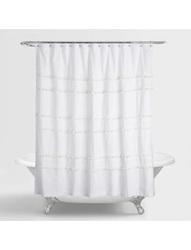 White Tiered Tassel Renata Shower Curtain by World Market