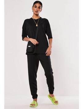 Black Oversized T Shirt And Jogger Co Ord Set by Missguided