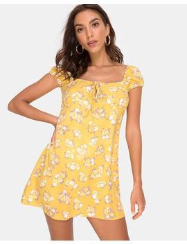 335eb8b923679 Shoptagr | Gaval Mini Dress In Rose Bunch Yellow By Motel by Motel