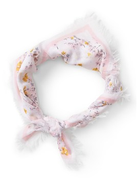 Floral Small Square Scarf by Banana Repbulic