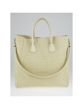 5d9b0c228e7 BUY AT YOOGI'S CLOSET · Sand Croc Embossed Suede Elme Tote Bag by Givenchy