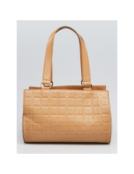 e5cfbf2402b BUY AT YOOGI'S CLOSET · Beige Square Quilted Lambskin Leather Shoulder Bag  by Chanel