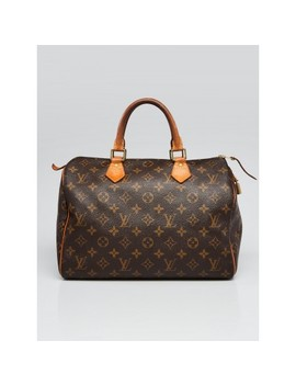 033e2444dd2 LOUIS VUITTON. Monogram Canvas Speedy 30 Bag. BUY AT YOOGI'S CLOSET · Beige  Square Quilted Lambskin Leather Shoulder ...
